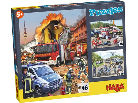 puzzles v hicules d 39 intervention police pompier ambulance. Black Bedroom Furniture Sets. Home Design Ideas