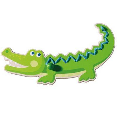crocodile à lacer