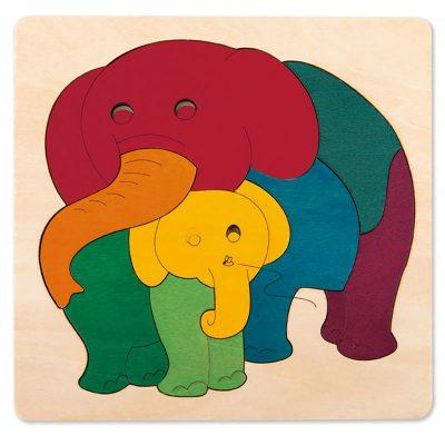 puzzle elephant et son bébé