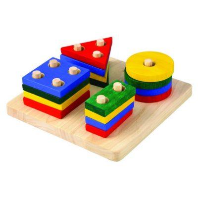Jeu d'empilage géométrique - Plan Toys