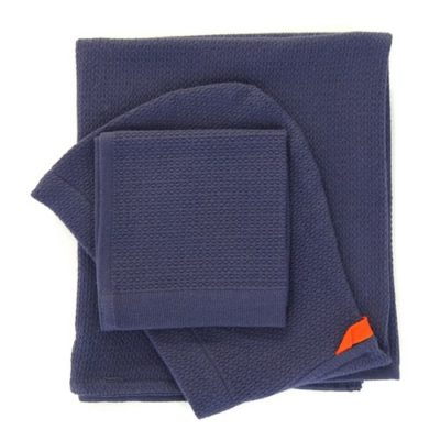 Coffret cape de bain et débarbouillette - Midnight Blue