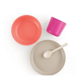 Set repas  pour bébé en bambou - Set 3 Stone