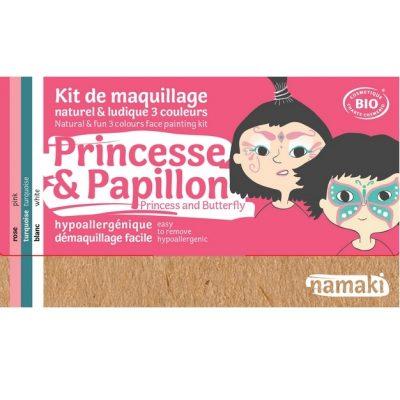 """Kit de maquillage bio 3 couleurs """"Princesse et Papillon"""" - NAMAKI"""