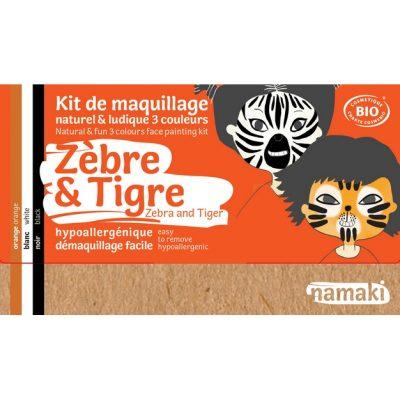 """Kit de maquillage bio 3 couleurs """"Zèbre et Tigre"""" - NAMAKI"""