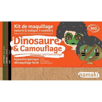 """Kit de maquillage bio 3 couleurs """"Dinosaure et Camouflage"""" - NAMAKI"""