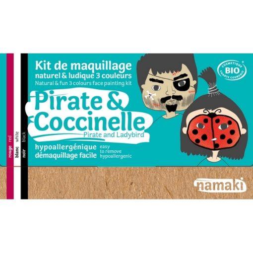 """Kit de maquillage bio 3 couleurs """"Pirate et Coccinelle"""" - NAMAKI"""