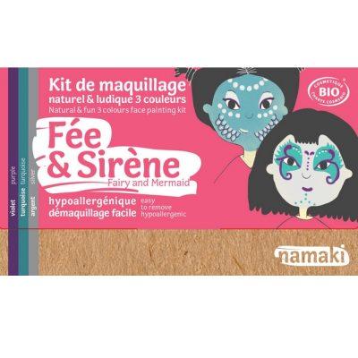 """Kit de maquillage bio 3 couleurs """"Fée et Sirène"""" - NAMAKI"""