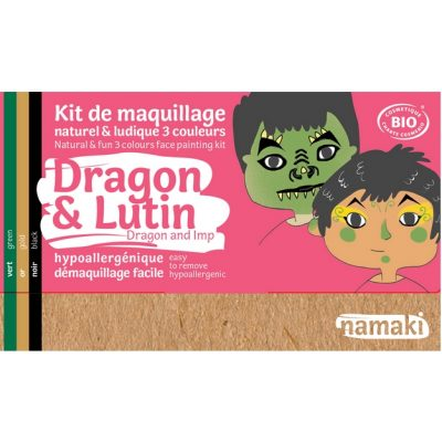 "Kit de maquillage bio 3 couleurs ""Dragon et Lutin"" - NAMAKI"