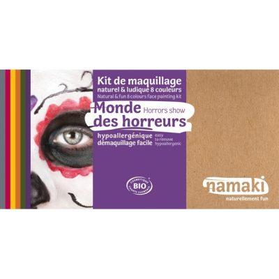 """Kit de maquillage bio 8 couleurs """"Monde des horreurs"""" - NAMAKI"""