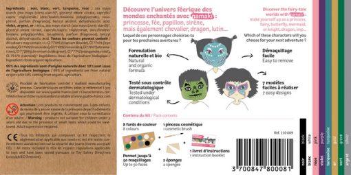 """Kit de maquillage bio 8 couleurs """"Mondes enchantés"""" - NAMAKI"""
