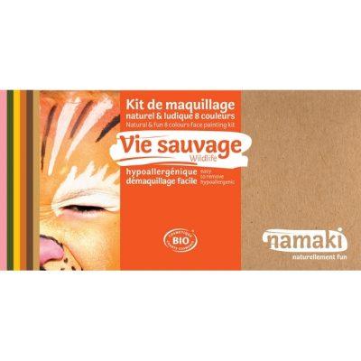 "Kit de maquillage bio 8 couleurs ""Vie sauvage"" - NAMAKI"