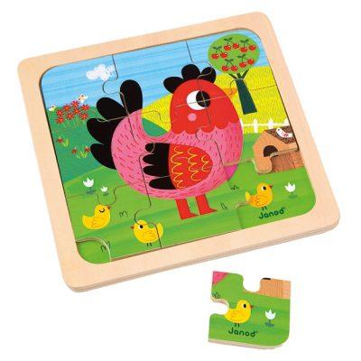 puzzle-bois-poule