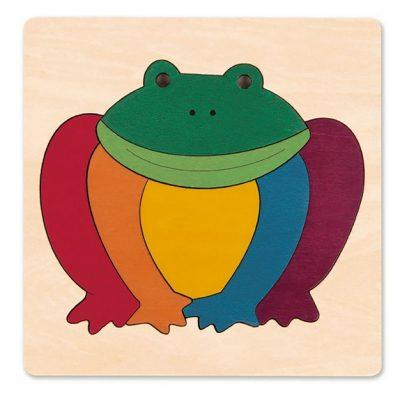 puzzle grenouille arc-en-ciel