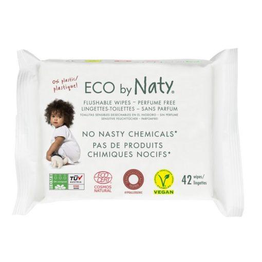 Lingettes Eco jetable dans les WC - NATY