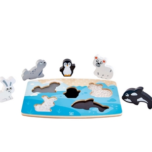 puzzle animaux polaire tactile