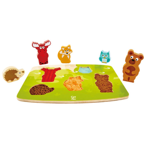 puzzle animaux forêt tactile