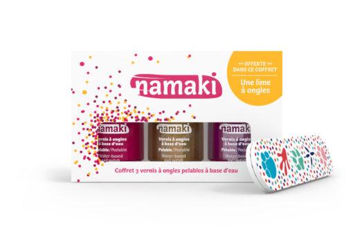 Coffret 3 vernis - Framboise + Or + Fuchsia - NAMAKI