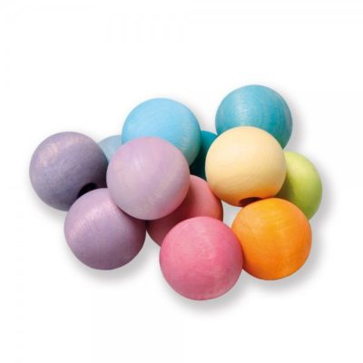 hochet boules pastel