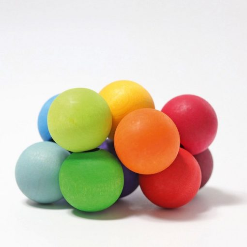 Hochet à boules arc-en-ciel - GRIMM'S