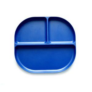 Assiette compartimentée Bleu