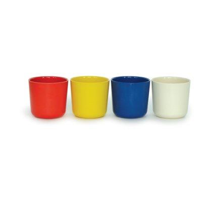 EKOBO -  Set de 4 gobelets en bambou - Set 4 Bleu
