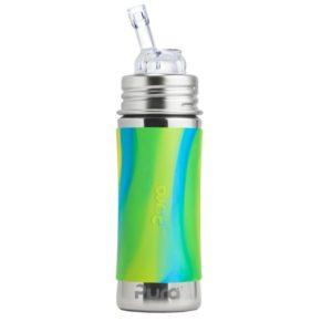 Gourde en inox - Paille- Aqua Swirl - 325 ml  - PURA