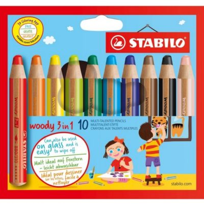 STABILO Woody 3 in 1 - 10 pièces