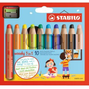 STABILO Woody 3 in 1 - 10 pièces avec taille crayon