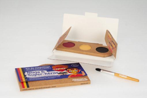"""Kit de maquillage bio 3 couleurs """"Ninja et Super-Héros''"""