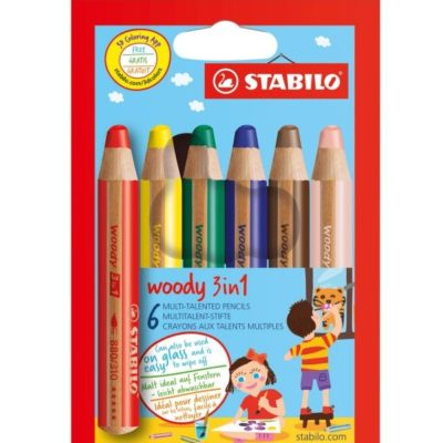 STABILO Woody 3 in 1 - 6 pièces