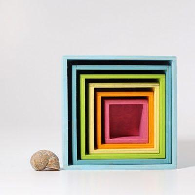 Cubes arc-en-ciel pastel - GRIMM'S
