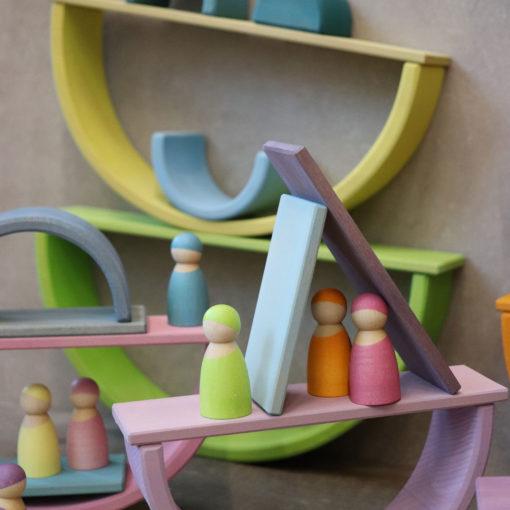 Plaquettes en bois - Pastel - GRIMM'S