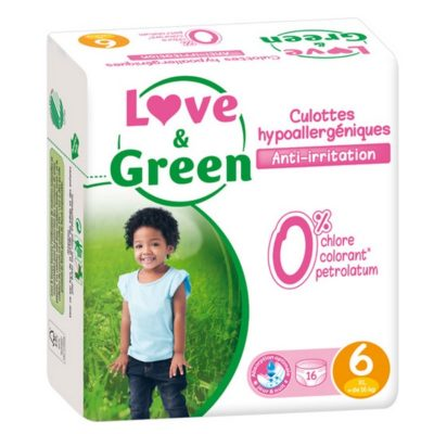 Culottes d'apprentissage XL - 16 kg et + - LOVE & GREEN