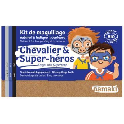 """Kit de maquillage bio 3 couleurs """"Chevalier et Super-Héros"""" - NAMAKI"""