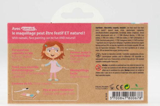 """Kit de maquillage bio 3 couleurs """"Princesse et Licorne"""""""