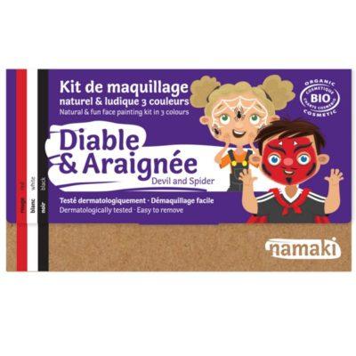 """Kit de maquillage bio 3 couleurs """"Diable et Araignée"""" - NAMAKI"""