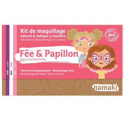 """Kit de maquillage bio 3 couleurs """"Fée et Papillon"""" - NAMAKI"""