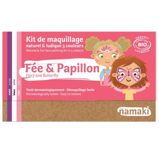"""Kit de maquillage bio 3 couleurs """"Fée et Papillon"""""""