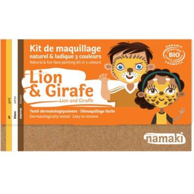 """Kit de maquillage bio 3 couleurs """"Lion et Girafe"""""""