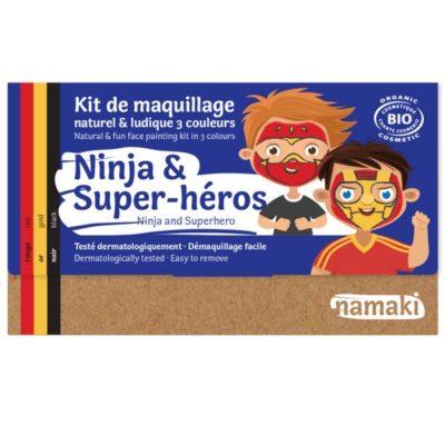 """Kit de maquillage bio 3 couleurs """"Ninja et Super-Héros - NAMAKI"""