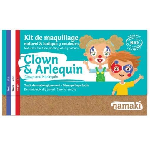 """Kit de maquillage bio 3 couleurs """"Clown et Arlequin"""""""