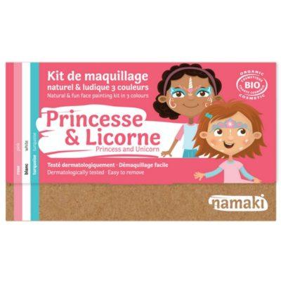"Kit de maquillage bio 3 couleurs ""Princesse et Licorne"" - NAMAKI"