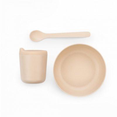 EKOBO - Set repas bébé avec bec verseur - Set 2 Rose Pastel