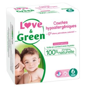 Couches Taille 6 Extra Large - 15 kg et + - LOVE & GREEN