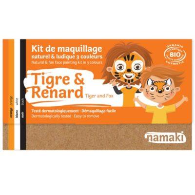 """Kit de maquillage bio 3 couleurs """"Tigre et Renard"""""""