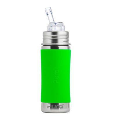 Gourde en inox - Isotherme - Paille- Green - 260 ml