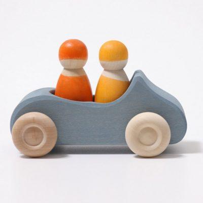Voiture bleue avec 2 passagers - GRIMM'S