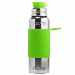 Gourde en inox - Isotherme - Sport - Green -  650 ml - PURA
