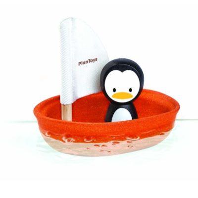 Bâteau à voile - Pingouin - PLAN TOYS