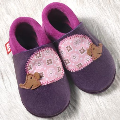 Chaussons en cuir Pololo Taille 26-27